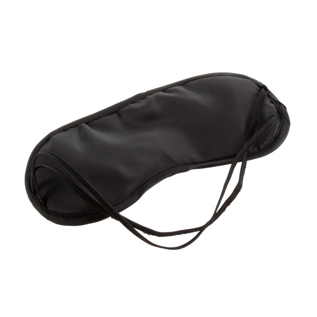 Black Sleeping Eye Mask Blindfold let Travel Sleep gentle comfort Aid Cover Light Soft Material Portable