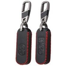 VCiiC Кожаный Автомобильный Дистанционный ключ чехол КРЫШКА ДЛЯ Mazda 2 3 6 Axela Atenza CX-5 CX5 CX-7 CX-9 Smart 2/3 кнопки