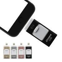 Smare 3in1 128GB 64GB 32GB 16GB Metal USB OTG IFlash Drive HD USB Flash Drives For