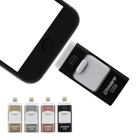 Smare 3in1 128GB 64GB 32GB 16GB Metal USB OTG IFlash Drive HD USB Flash Drives For