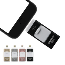 Smare 3in1 128GB 64GB 32GB Metal USB OTG iFlash Drive HD USB Flash Drives for iPhone for iPad for iPod and Android Phone