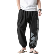 New men Hip Hop Pants Male Baggy Cotton Linen Harem Pants Men Women Plus Size Wide Leg Trousers man Casual Pants Cross-pants 5XL new cool cross pants male hip hop fashion baggy cotton linen harem pants men punk plus size wide leg trousers loose casual pants