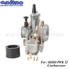 Гоночный мотоцикл карбюратор 32 мм для koso pwk32 карбюратор Carburador с мощностью jet подходит для двигателя 2 T/4 T