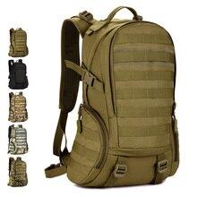 Bolsa de Viaje Impermeable de Los Hombres Tácticos Mochilas 35L 14 Pulgadas Portátil Mochila Militar Tactica Militar de Nylon Impermeable Mochila de Senderismo