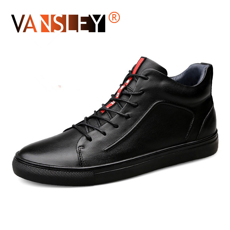 Spring Summer Flats Shoes High Quality All Black Men's Leather Casual Shoes Fashion Breathable Sneakers Fashion Flats Size36 48