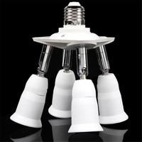 Aydınlatma Aksesuarları LED Ampul Aksesuarları 1 Için 4 Ayarlanabilir E27 Bankası Işık Lambası Ampul Adaptörü Tutucu Soket Splitter