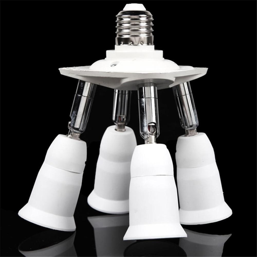 Lighting Accessories LED Bulb Accessories 1 To 4 Adjustable E27 Base Light Lamp Bulb Adapter Holder Socket Splitter