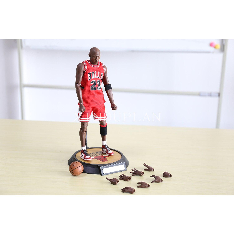 Xinduplan Майкл Джордан 23 NBA Chicago Bulls 23 фигурки Игрушечные лошадки 1/6 34 см большой ПВХ подарок собрать модель 1053