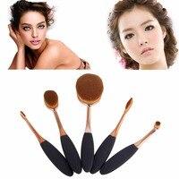 5PCS Toothbrush Type Makeup Brushes Set Cosmetics Kit Powder Blush Tools Face Care