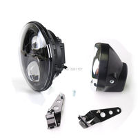 7 INCH LED Round Headlight With High Low Beam Projector Daymaker Plus Housing Bucket Fits Most