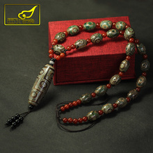Arsun Jewelry Tibet Dzi Beads Necklace Real Stone Tibetan Jewelry Men&womens Necklace Free Shipping