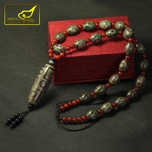 Image 1 - Arsun مجوهرات التبت dzi الخرز قلادة حجر التبت المجوهرات الحقيقي الرجال قلادة شحن مجاني