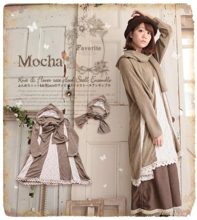 vintage long sleeve embroidery knitted patchwork mori girl. Black Bedroom Furniture Sets. Home Design Ideas