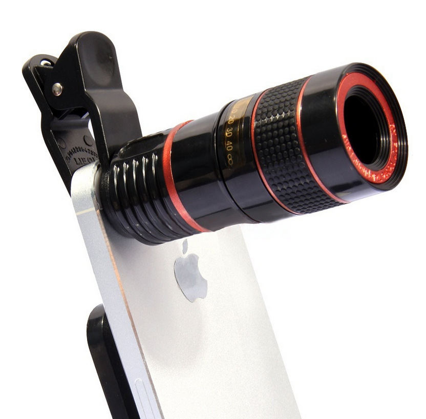 FOR iPhone for Sumsung   Huawei Universal Clip 8X 12X Zoom Mobile Phone Telescope Lens Telephoto External Smartphone Camera Lens