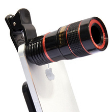 FOR iPhone for Sumsung Huawei Universal Clip 8X 12X Zoom Mobile Phone Telescope Phone
