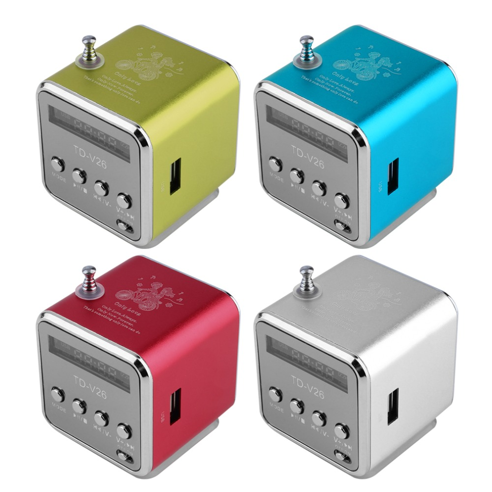 Portable Micro USB Mini Stereo Super Bass Speaker Music MP3/4 FM Radio TF card, USB disk, FM Drop Shipping