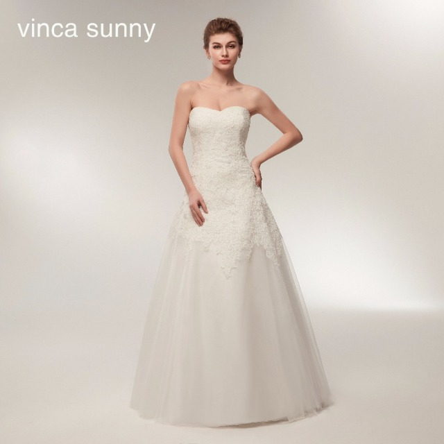 e8a52119de8 Vinca sunny Charming Sweetheart Applique Lace Vintage Bridal Wedding Dress  2018 Princess Wedding Dresses Turkey trouwjurk