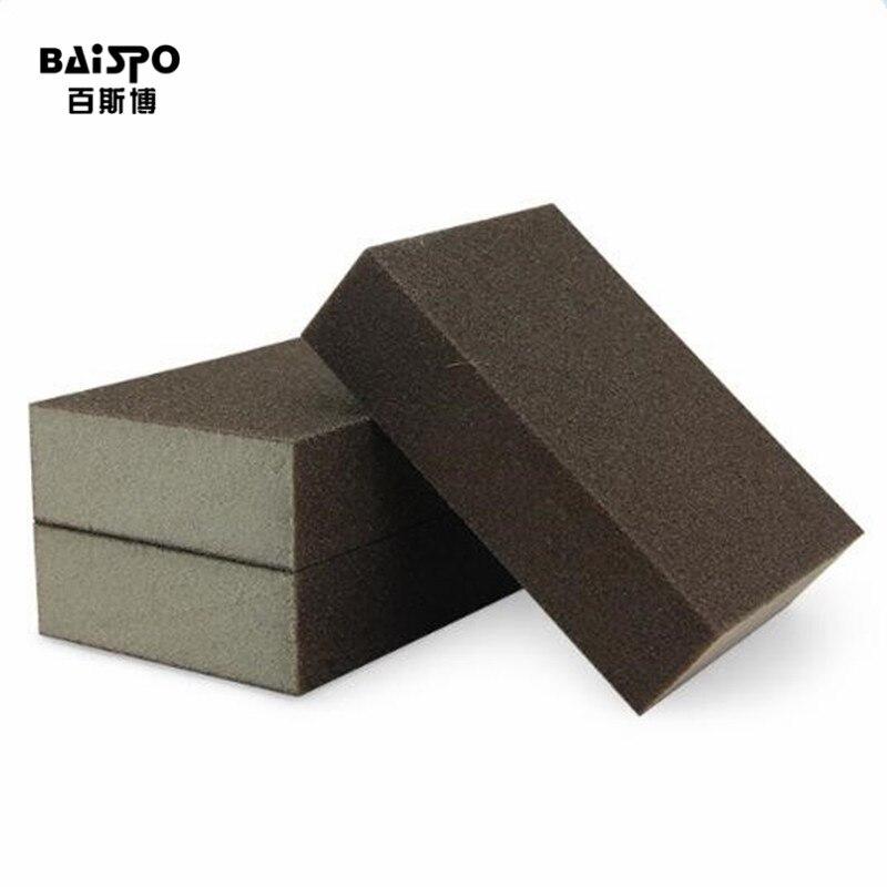 BAISPO 50 pcs/lot 100*70*25mm High Density Nano Emery Melamine Sponge For Cleaning Homeware Kitchen Sponge Removing Rust Rub