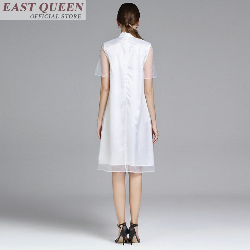 Chinese tradition clothing for women stand collar fan print elegant loose female oriental robe hot sale fashion robe DD881 L