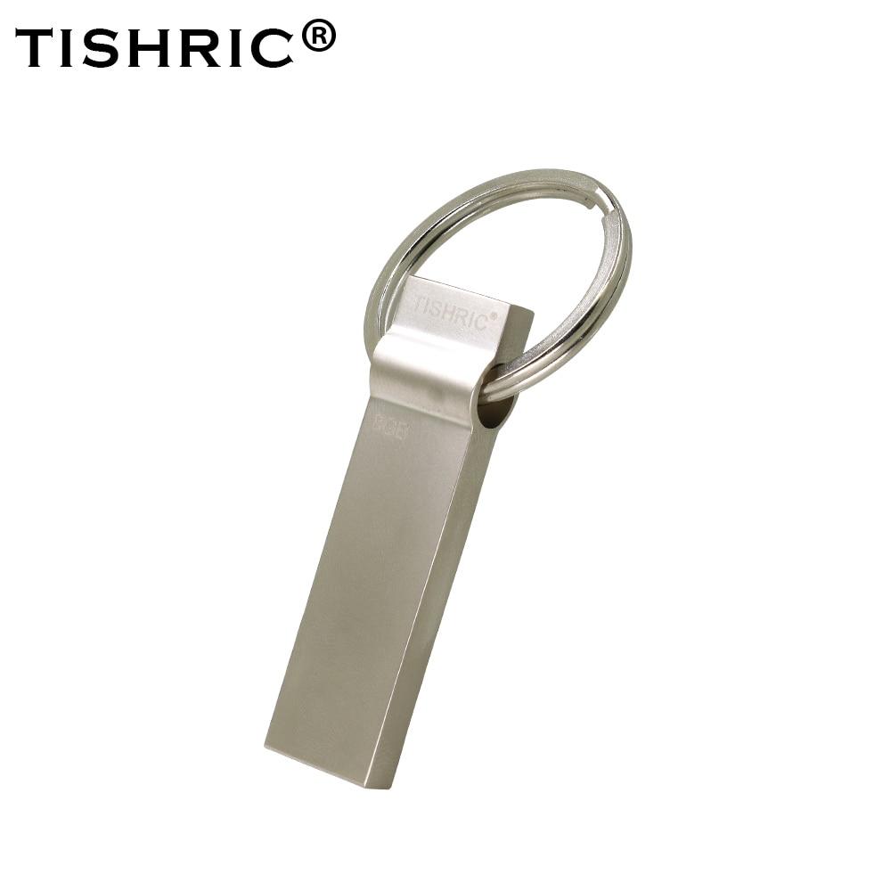 TISHRIC Metal Usb Flash Drive Usb Key Pen Drive 128Gb 64Gb 32Gb 16Gb 8Gb Flash Memory Pendrive Usb Flash Stick Portable Memory