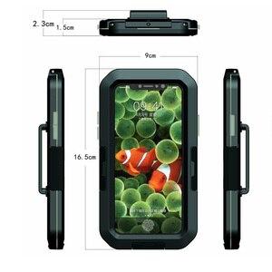 Image 3 - Vmonv אוניברסלי עמיד למים אופנוע אופניים כידון טלפון מחזיק עבור iPhone X 8 7 רכיבה על אופני טלפון נייד מקרה GPS פגז