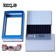 Banco do Poder Banco de Potência Icoque Universal 5 V Motherboard Pcba Solar Caixa DIY Dual USB 20 PCS LED Powerbank Solares 5×18650 KIT NÃO Battey