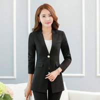 2017 New Korean Style Casual Long Sleeve Small Suit Coat 4 Colors Spring Autumn Professional Business