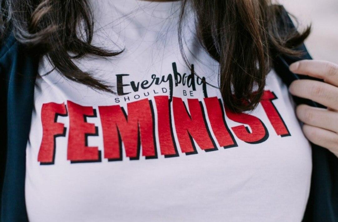 Everybody Should Be Feminist Slogan Tshirt Women Tumblr Graphic Tops Tees Summer Short Sleeved Casual White t shirt Women Befree