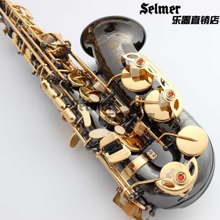 2015 New High quality Saxophone alto R-54 musical instruments professional E-flat sax alto Black saxophone alto sax alto saxophone selmer 54 brass silver gold key e flat musical instruments saxophone with cleaning brush cloth gloves cork strap