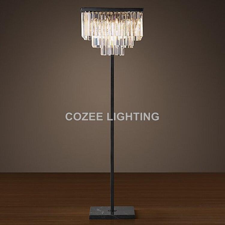Us 658 0 K9 Crystal Prism Floor Lamp Standing Lighting Led Light Indoor Home Hotel Restaurant Living And Dining Room Decor In