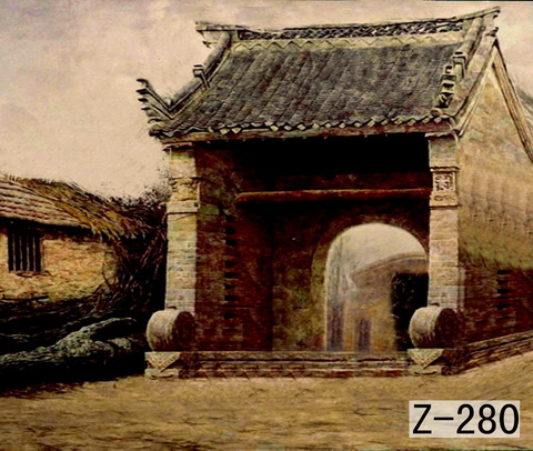 2017 10*20ft Hand Painted Muslin photography background  Z280,antique scenic backdrop ,Chinese oldest photo backgrounds