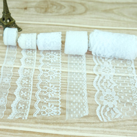 20Yard Lot White High Quality Lace Ribbon Embroidered Net Lace Trim Fabric For Wedding Decoration By