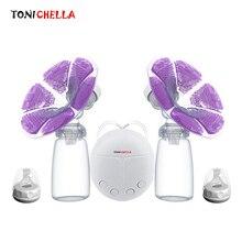 Один/двойной Электрический молокоотсос с молочной бутылочкой для младенцев USB BPA бесплатно мощная грудь насосы для кормления ребенка T0451