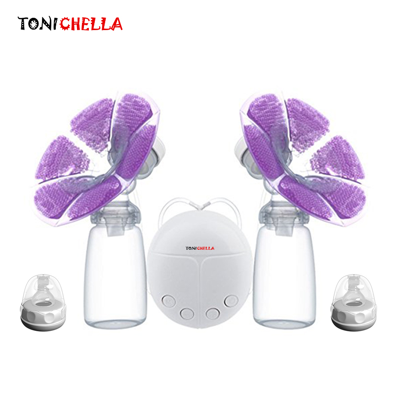 single-double-electric-breast-pump-with-milk-bottle-infant-usb-bpa-free-powerful-breast-pumps-baby-breast-feeding-t0451