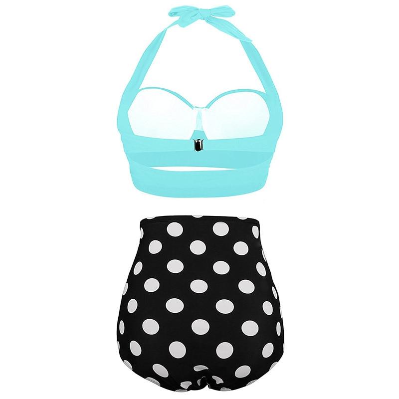 High Waist Swimsuit 2019 Black White Striped Bikinis Women Bandage Top Push Up Swimwear Female Bathing Suits Beach Wear Biquini