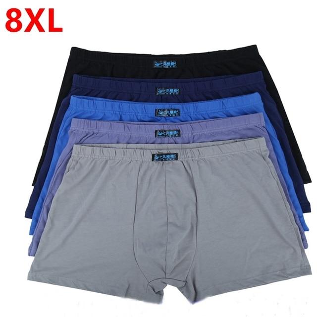 Large loose male  cotton Underwears Boxers high waist panties breathable fat belts Big yards men's underwear plus size