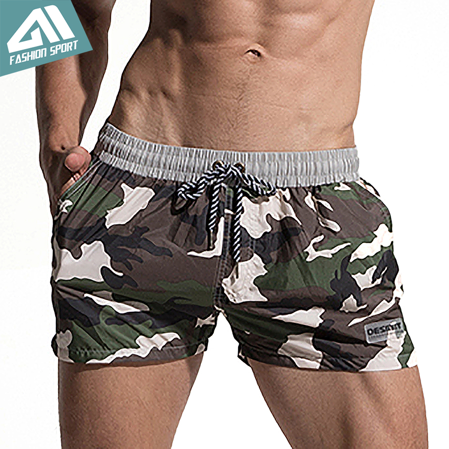 Desmiit Fast Dry Men's Board Shorts Summer Camouflage Beach Surfing Man Swimming Shorts Athletic Sport Running Gym Shorts AM2030