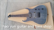 China OEM Musikinstrumente B7 Blackmachine 7 Saiten E-gitarre Matt Braun Finish Auf Lager