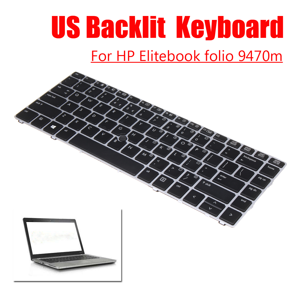 US Keyboard Replacement For HP Elitebook folio 9470m PC Laptop Notebook 697685-001 Computer Keyboards laptop keyboard for hp pavilion 10 f013au 10 f014au f009au black united states us 758644 001