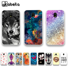 AKABEILA Soft TPU Plastic Cases For Samsung Galaxy J3 2017 J330 J330F J330G/DS EU Eurasian Version 5.0 inch Covers Silicone Bags