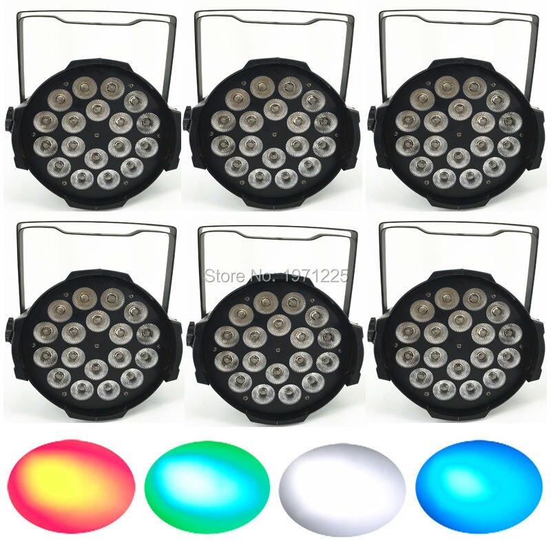 ФОТО (8pcs) disco light LED Par 18x12W RGBW 4in1 LED Par Can night club Strobe Disco Stage Light  Free Shipping