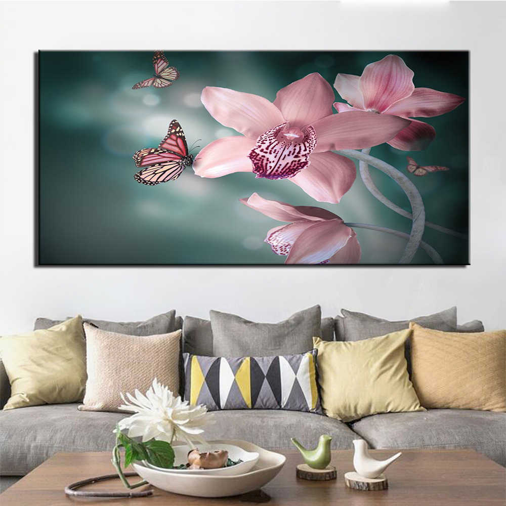 Home Decor Canvas Pictures Framework HD Prints Poster 1 Piece Abstract butterfly Paintings Modular Living Room Wall Art