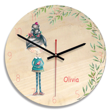 M.Sparkling 2018New Creative Wooden Wall Clock Colorful Painting Cartoon Wall Watch Kids Room Decorative Clocks reloj pared