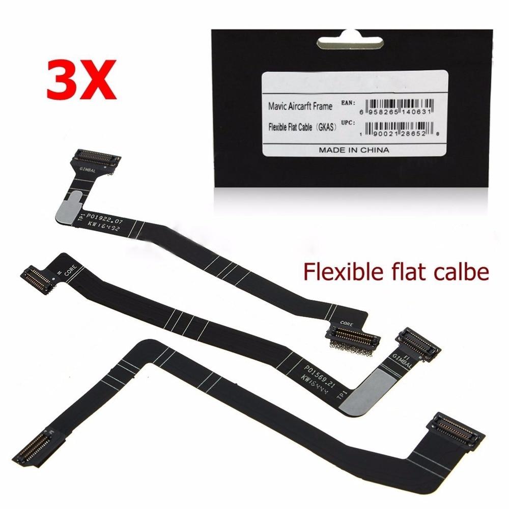 MASiKEN 3Pcs PCB Ribbon Gimbal Flex Repair Flat Cable For DJI Mavic Pro Drone Frame Flexible For Mavic Pro Accessories цена 2017