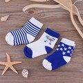 3 par/pack Primavera Otoño Bebé de Dibujos Animados Calcetines de Algodón para Niños Niñas Niños Jacquard Calcetería Calcetines Antibacterianos Transpirables 0-3 T