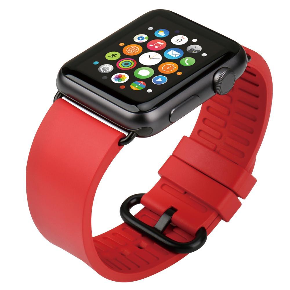 MAIKES Armband für Apple Uhrenarmbänder 42mm 38mm Serie 4 3 2 1 - Uhrenzubehör - Foto 2