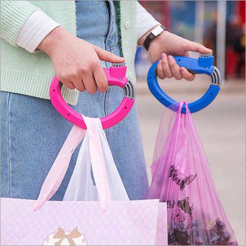 Creative Trip Grip D Shaped Grocery Bag Holders Portable Carry Bag Device Extracts Device Carry Bag Tools Labor-saving handle