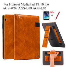 For Huawei MediaPad T3 10 AGS-W09 AGS-L09 AGS-L03 9.6 Cover Funda Hand Hold for Huawei Honor Play Pad 2 9.6 Stand Shell+Film+Pen аэрогриль supra ags 1242