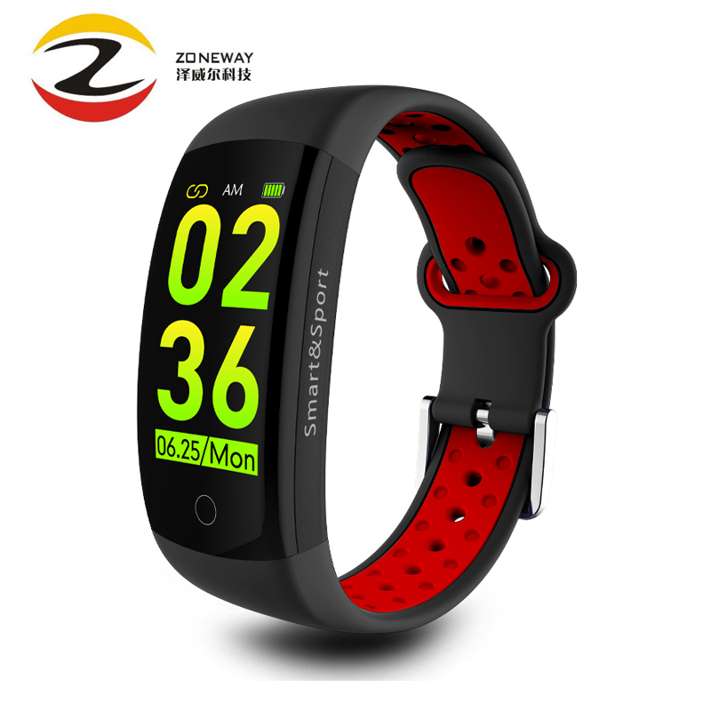 Q6S Smart Bracelet 3D Dynamic Blood Pressure Heart Rate Monitor Smart Band Wrist Band Waterproof Sports
