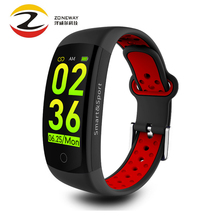 Q6S Smart Bracelet 3D Dynamic Blood Pressure Heart Rate Monitor Smart Band Wrist Band Waterproof Sports Fitness Watch For Huawei